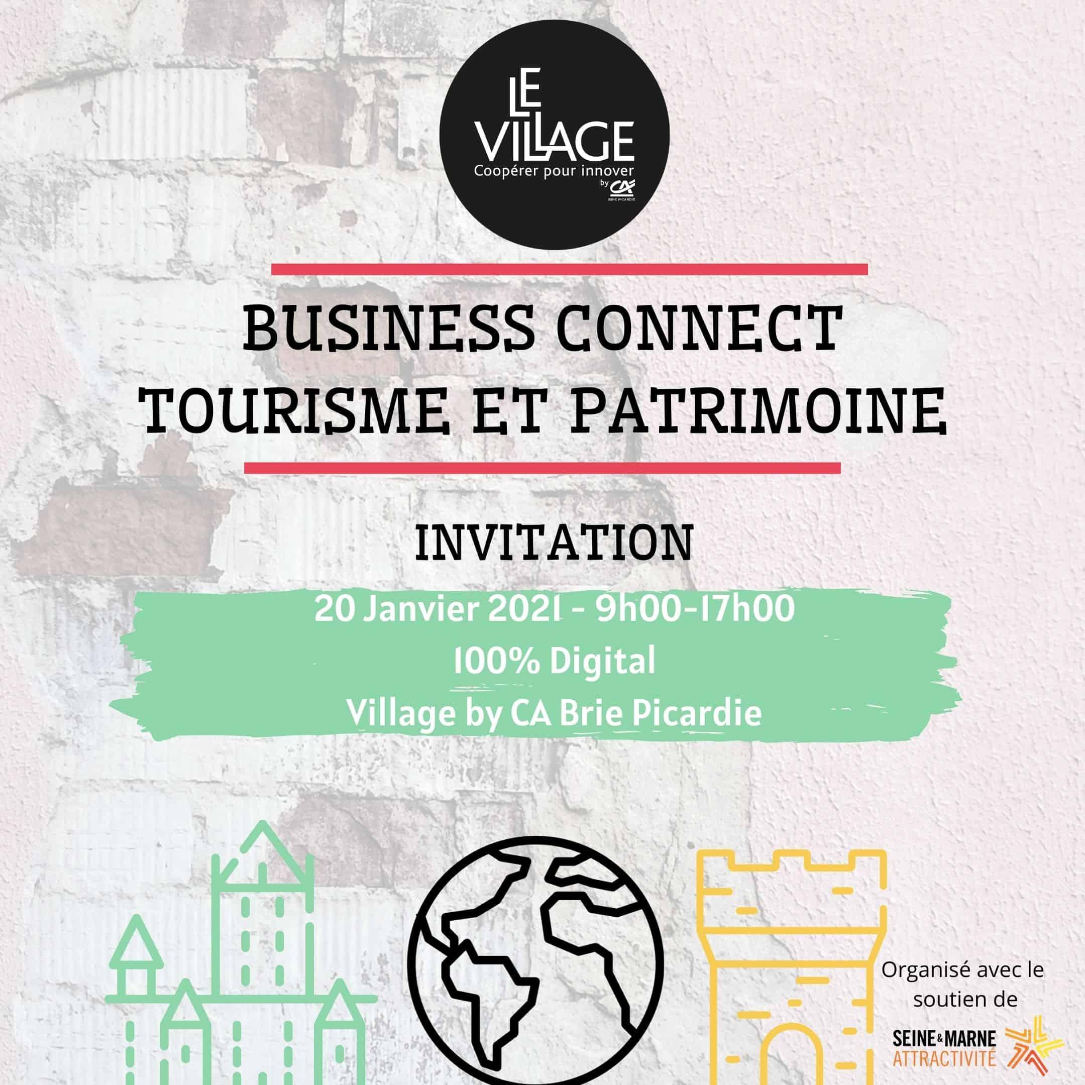 Invitation Business COnnect Tourisme et Patrimoine